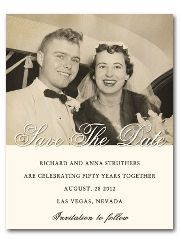 For any year anniversary...6050  Save the Date Card Fifth Avenue Black & White Photo