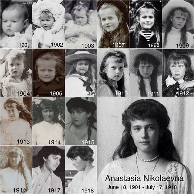 Anastasia throughout the years by lovelyotma from Instagram