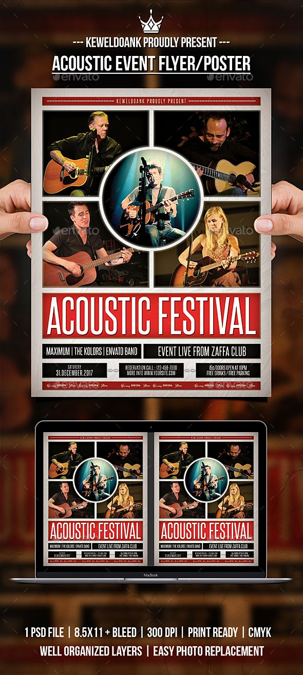 Acoustic #Event #Flyer / Poster - Events Flyers