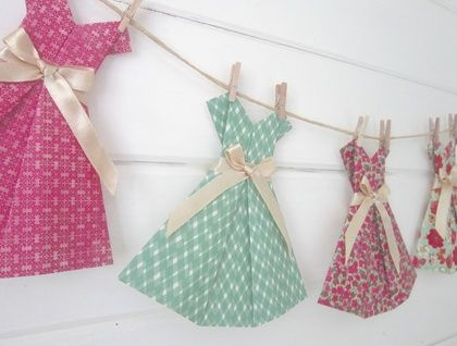 Vintage Paper Dress Bunting ~ Sweet Jane by Paper, Scissors, Frock