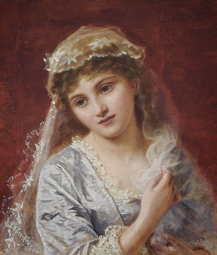 Sophie Gengembre Anderson (British, 1823-1903). The Young Bride