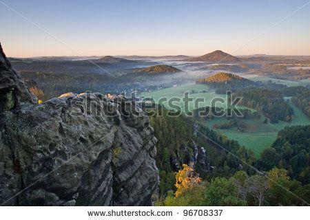 panorama of bohemian switzerland, czech republic by Zbynek Jirousek, via Shutterstock