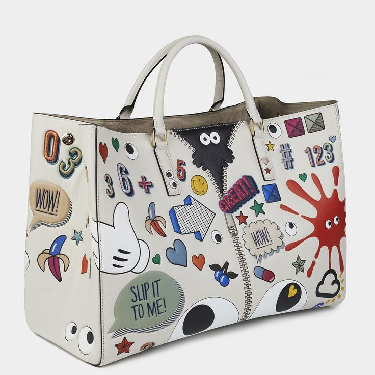 Ebury Featherweight Stickers | Anya Hindmarch Handbags The Spring Summer  2015 Collection