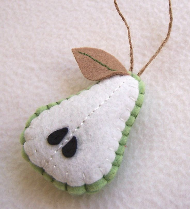 Pear Felt Ornament