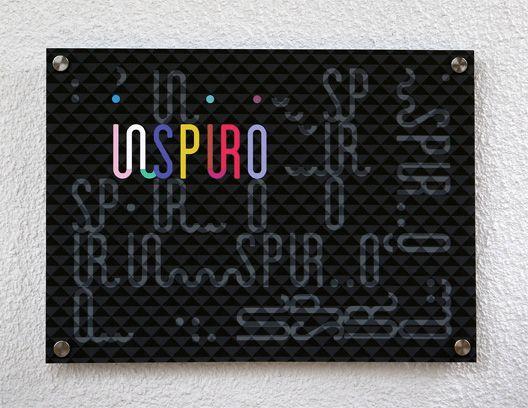 Dom Kultury INSPIRO - identyfikacja wizualna   informacja na budynku