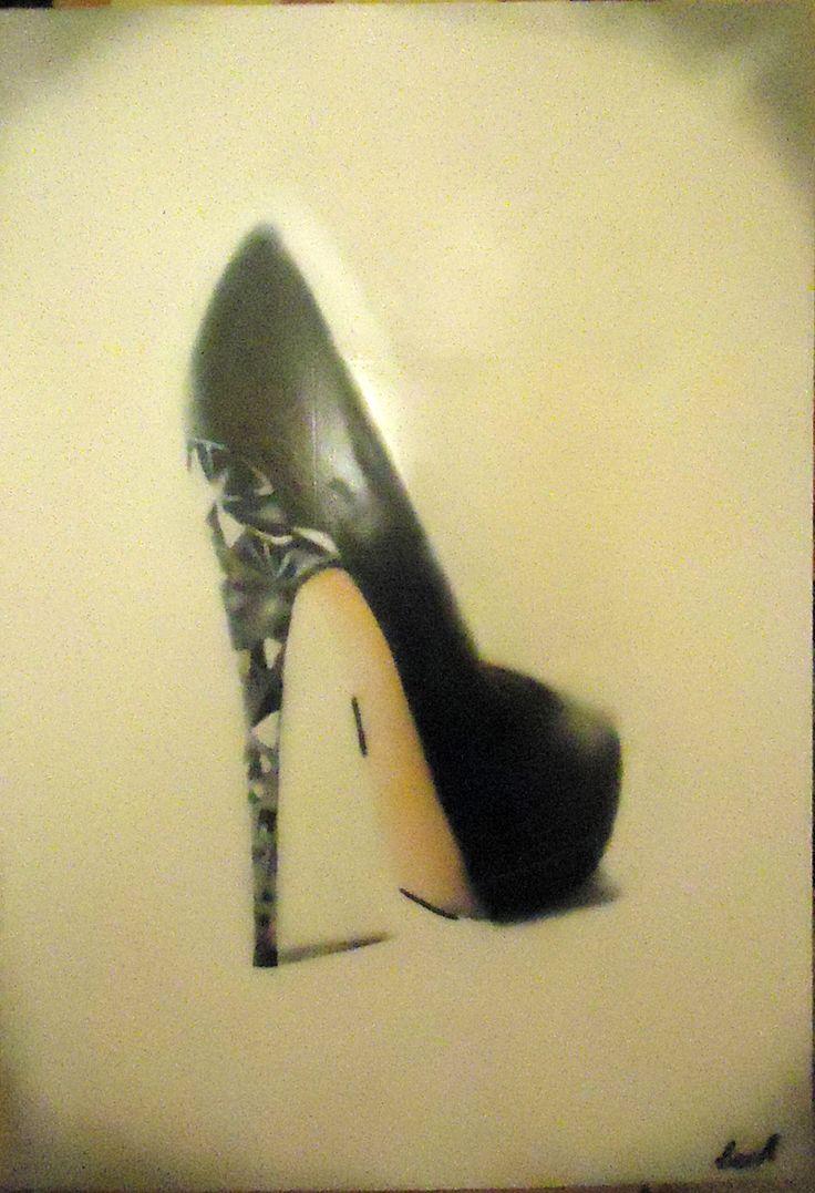 airbrush:heels 70cmx100cm
