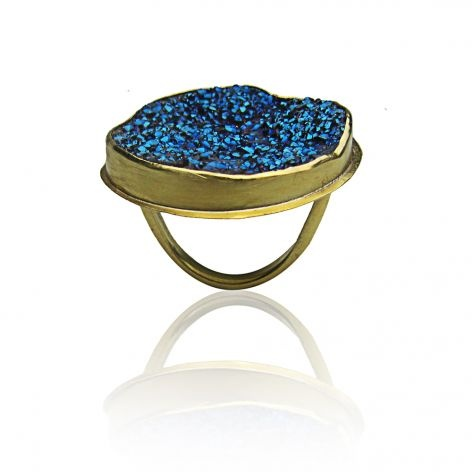 electric blue rock ring by Maya Magal