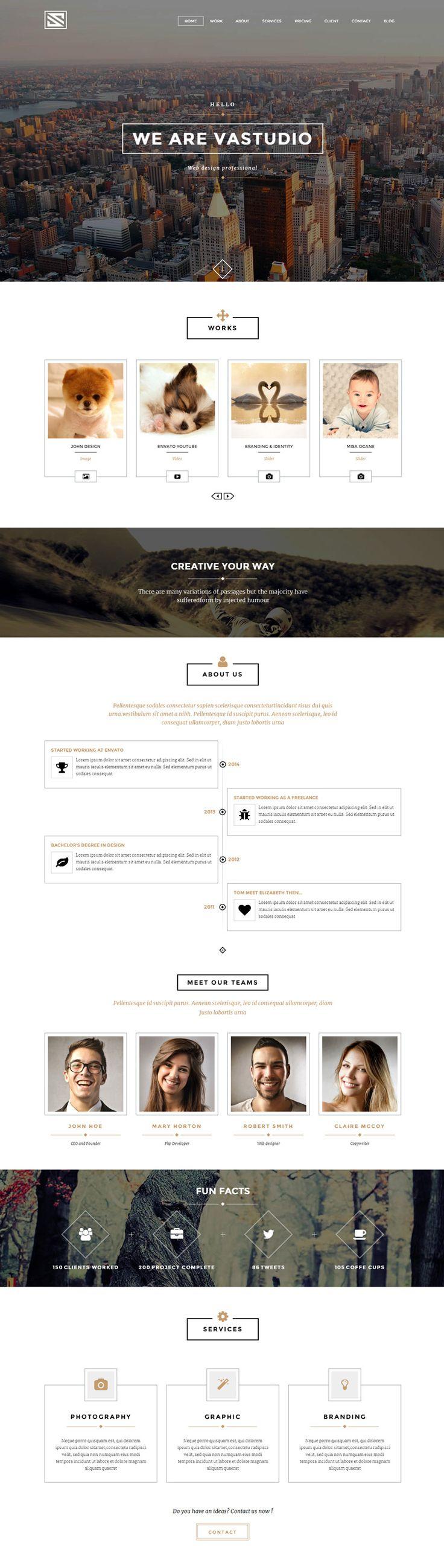 Best 25+ Minimalist web design ideas on Pinterest   Portfolio ...