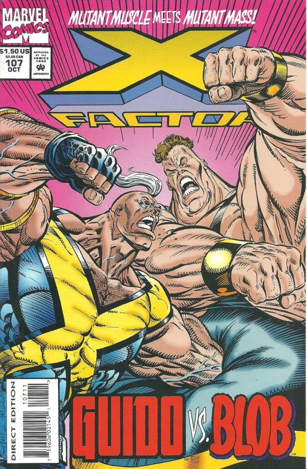 """X-FACTOR GUIDO VS BLOB (Marvel Graphic Novel) - oComics   X-Factor's resident Strong Guy, Guido, takes on the immovable Blob with explosive results! What will give first, Guido's kinetic enhanced strength, or Blob's uncanny mass?  Issue #107 of """"X-Factor"""" released by Marvel Comics in 1994. """"Punch-O-Rama"""" written by Todd DeZago with art by Paul Borges.  Read Now: http://ocomics.com/product-category/comics/marvel/  #marvel #comics #online #ocomics #XFactor"""