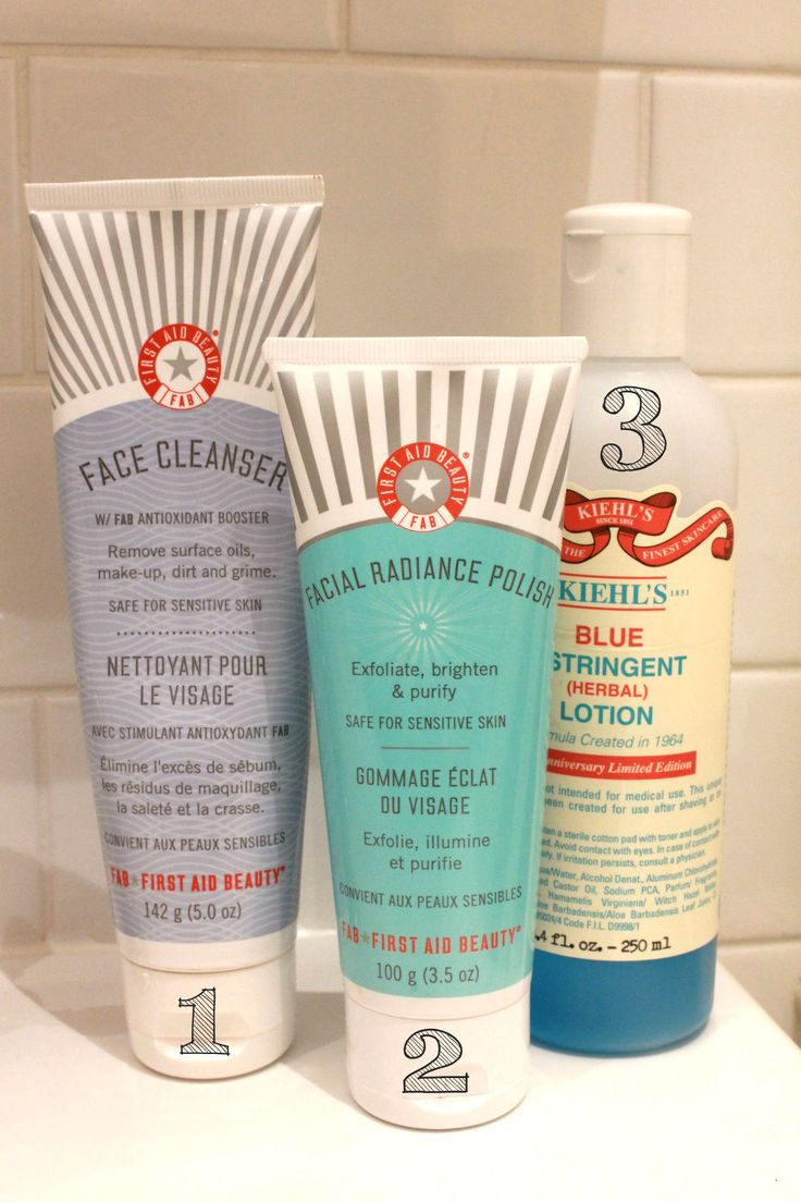 A 3-step daily cleansing and toning routine for oily/acne-prone skin! #beauty #cleansing #faceroutine #FAB #Kiehls #bonafide blonde