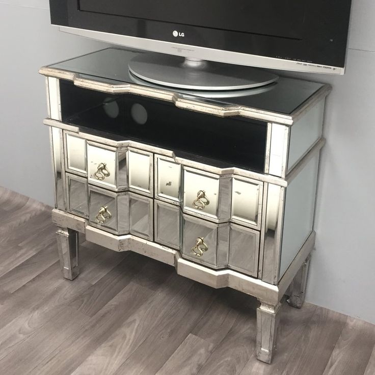 Vintage Mirrored Range TV Stand for TVs up to 48