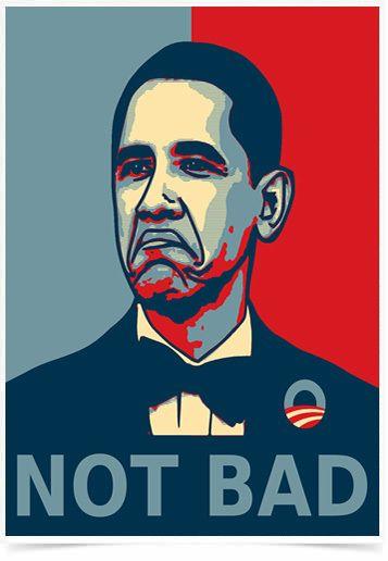 Poster Art Digital Obama Not Bad impresso com tecnologia HighHD de alta definição em papel semi-glossy especial com gramatura 250g no tamanho A3 (42x29cm) com cores vibrantes.