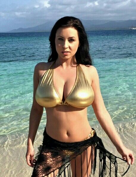 Ewa Sonnet - gold bikini - seaside