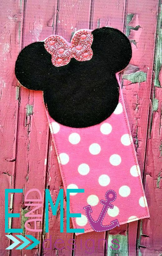This listing features a girl mouse bookmark