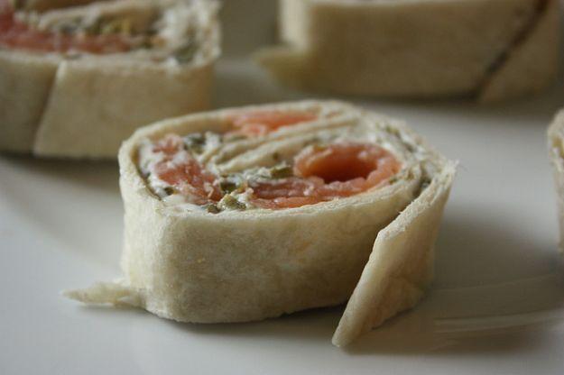 Antipasti veloci per la Vigilia di Natale, rotolo di salmone - salmo antipasto roll