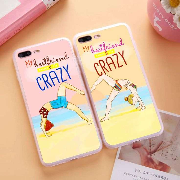 Crazy Sisters Forever Two Girls Best Friends Case For Apple iPhone 6 6S 7 Plus 4 4S 5C 5 5S SE Soft TPU Silicon  BFF Case