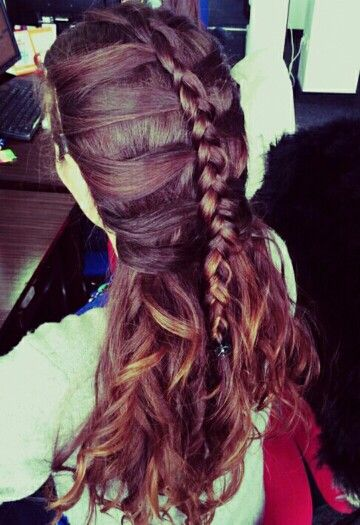 Dutch braid with strings