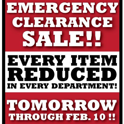 BLOWOUT CLEARANCE SALE STARTS TOMORROW AT ALL TELCO LOCATIONS!
