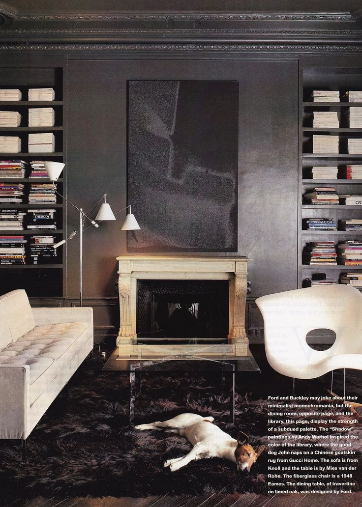 Tom Ford and Richard Buckley´s Paris apartment, House & Garden 1998: Charles & Ray Eames La Chaise lounge chair by Vitra. Photo by Todd Eberle. / The Art of The Room