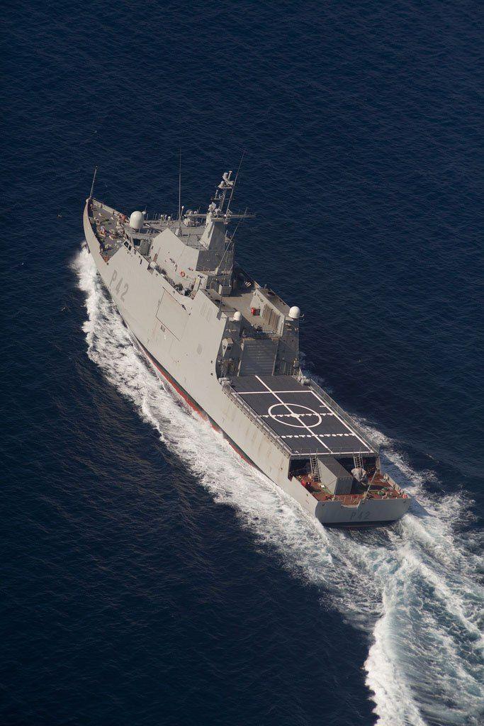 Spanish Navy BAM Rayo (P-42), LCS. Photo: Navantia ~ Repinned 4 U by Karen of AZdesertTrips.com