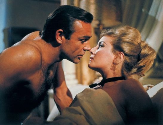 "This undated publicity photo provided by United Artists and Danjaq, LLC shows Sean Connery, left, as James Bond in a scene from the 1963 film, ""From Russia With Love."" Connery, a relatively unknown Scottish actor and former bodybuilder, was cast in the hit movie as Bond."
