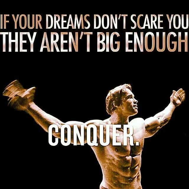 Laff. May your dreams be outside your comfort zone. :)