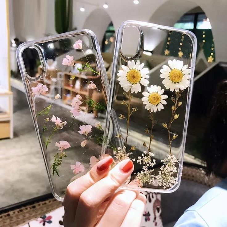 Real Dried Flowers Back Cover iPhone X/6/6S/7/8 plus Transparent Case #iphone #i…