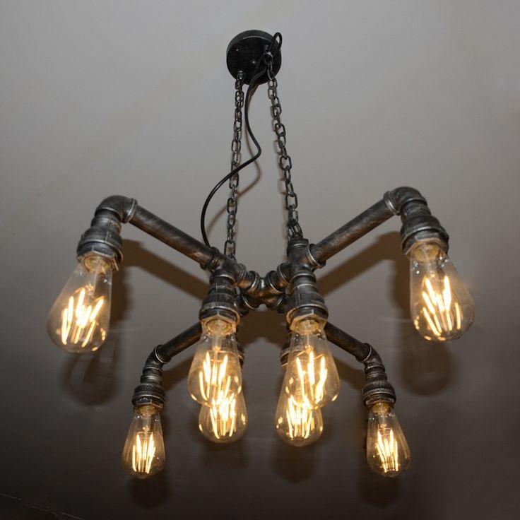 Edison Retro estilo Loft Vintage colgante Industrial de la lámpara de luz de la tubería de agua, luminaria Lampara Colgantes(China (Mainland))
