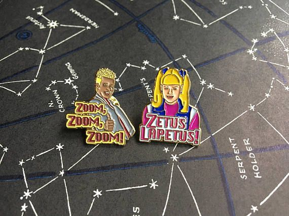 Zenon Girl of the 21st Century Enamel Pin SET of 2 Zenon &