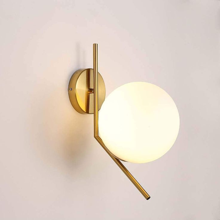 Wall Sconce Lamp Glass Globe Wall Sconce Modern Sconce Etsy Modern Sconces Mid Century Sconce Globe Sconce