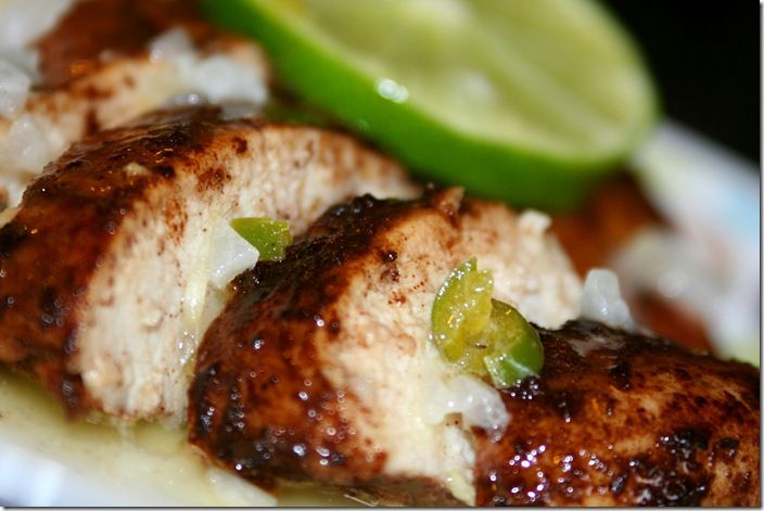 Texas Chicken with Lime Butter. Huge hit, not a speck left.  Made this for a friend and got rave reviews