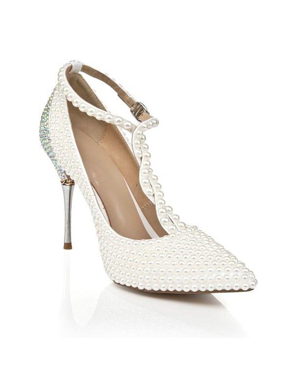 Pointed Toe Pearls High Heels