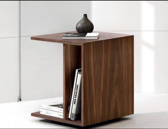 Nella Vetrina Dona Nana Modern Italian Designer Walnut Bedside Table