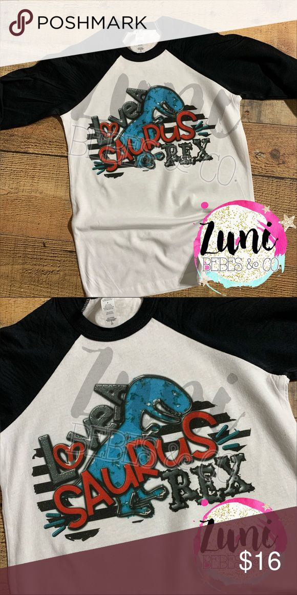 Boys Valentine Dinosaur Raglan Boutique In 2020 With Images Valentines For Boys Next Level Apparel Long Sleeve Tees