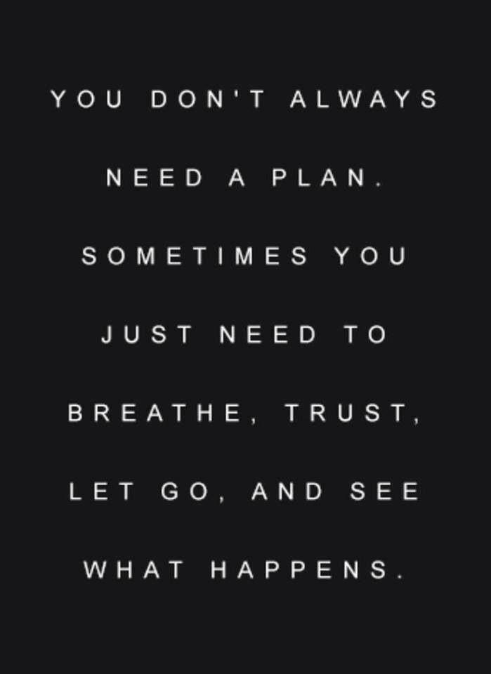 Trust the universe....