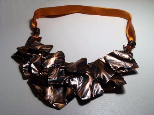Statement Necklaces – Leaves. copper necklace, handmade metal necklace – a unique product by LydiaRED on DaWanda