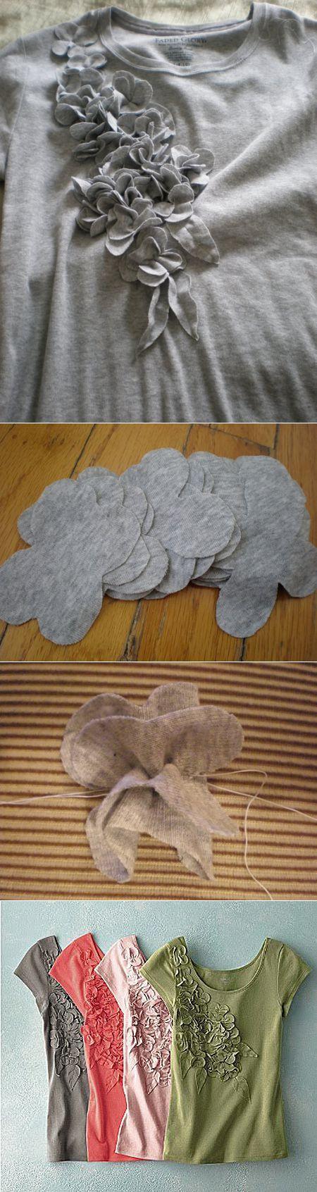 Украшаем трикотажную блузку своими руками. :) | шитье