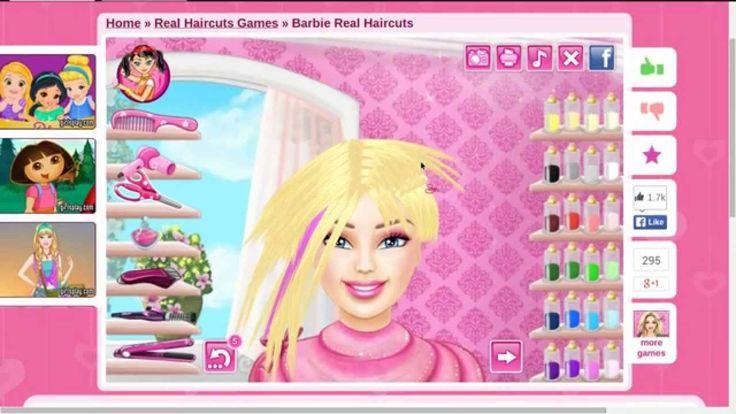 Barbie haircut game