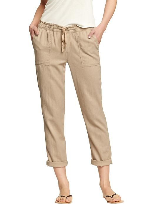 Wonderful PURO LINO Navy TieFront Linen Ankle Pants  Women  Zulily