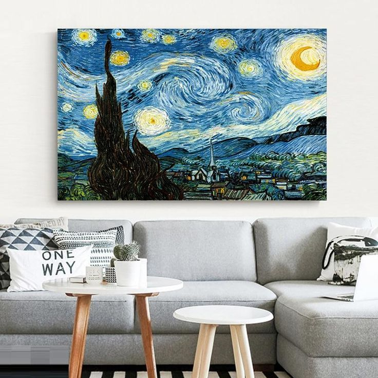 Elegant Poetry Starry Night By Vincent Van Gogh Famous Artist Art Print Poster Wall Picture Canvas Oil Painting Home Wall Decor Canvas Wall Art Ocean Wall Art Starry Night