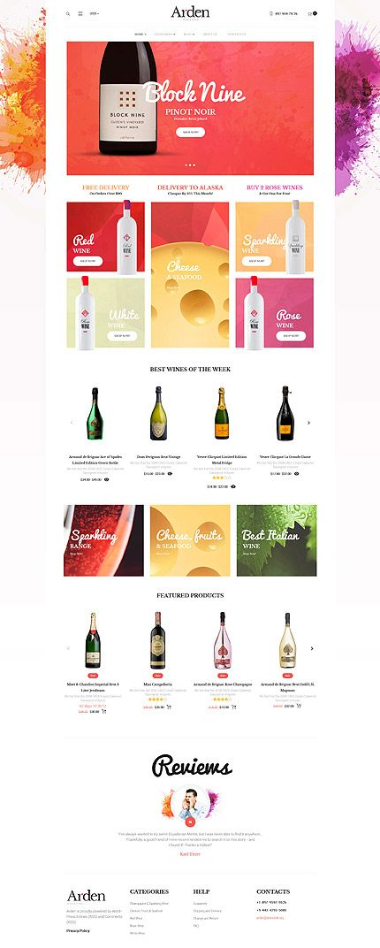 Fine Wines & Food Online Store #WooCommerce #template. #themes #business #responsive #WooCommercethemes