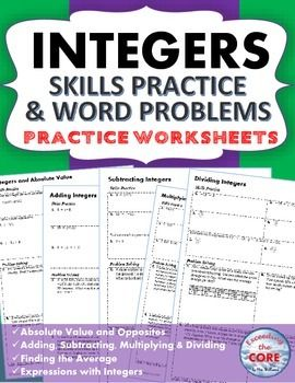 integers word problems and homework on pinterest. Black Bedroom Furniture Sets. Home Design Ideas