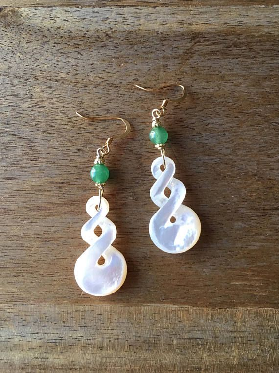 Mother of Pearl Earrings Carved Mother of Pearl Earrings