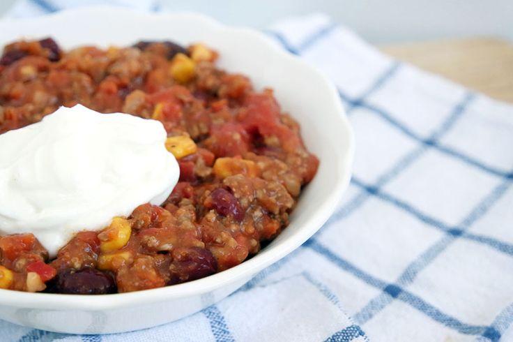 Gesunde und leckere Chili Con carne für kalte Tage. Clean Eating.