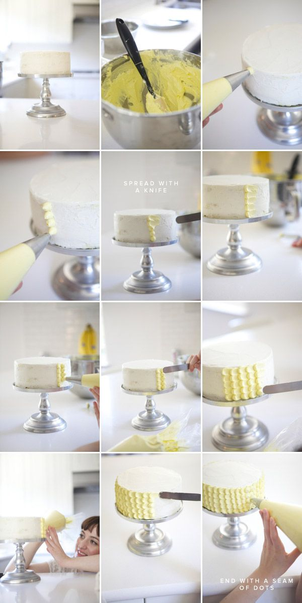 How to perfectly frost a scallop cake---finally!!!!! I saw a photo of a cake like this an so wanted to know how to do this!!