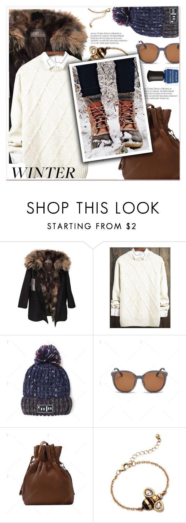 """""""So Cozy: Winter Boots"""" by paculi ❤ liked on Polyvore featuring Yves Salomon, Deborah Lippmann and winterboots"""