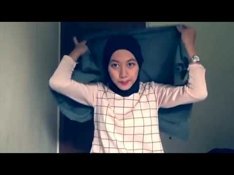 Easy Hijab Tutorials 2 Style Of Square Scarves NMY Hijab Tutorials - YouTube