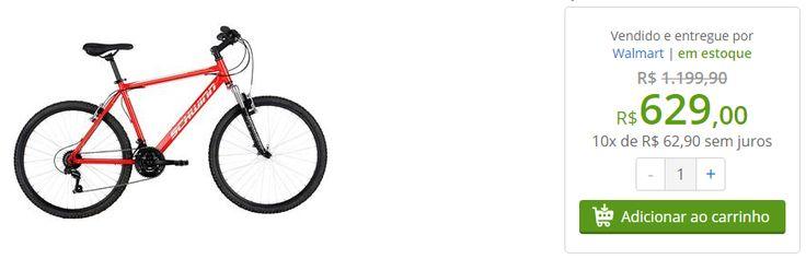 [Walmart] Bicicleta Schwinn Mountain Aro 26 21 Marchas Vermelho - R$629 em 10x