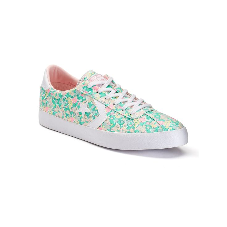 Women's Converse Breakpoint Floral Shoes, Adult Unisex, Size: 9, Med Green