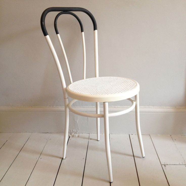 Awesome Image Of White Thonet Style Chair
